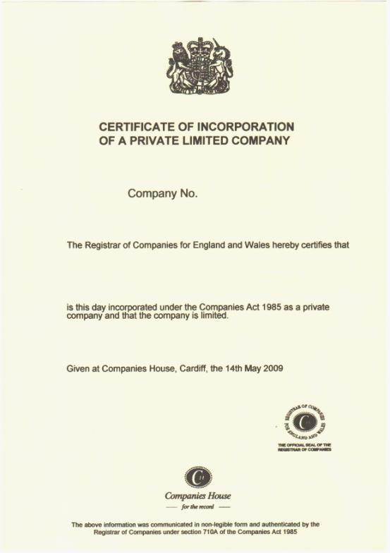 注册英国公司所需资料