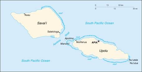 总面积为2944平方公里,由九个岛组成,最大的岛是萨瓦伊岛,它包括1610