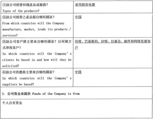 KYC尽职调查表第三部分:业务活动及资金