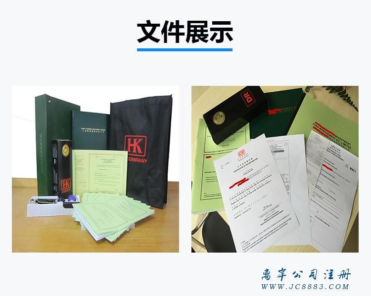 完成注册获得的全套公司资料